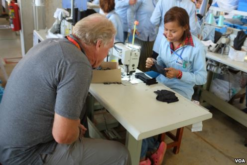 VOA: Factory boss seeks to empower his Cambodian workers